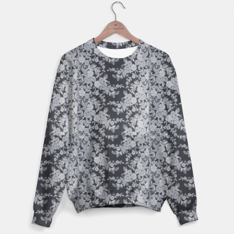 Thumbnail image of Black Floral Lace Sweater, Live Heroes