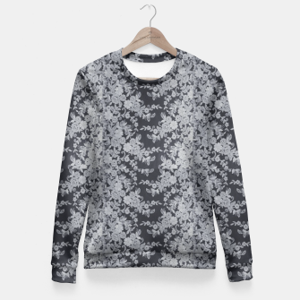 Thumbnail image of Black Floral Lace Fitted Waist Sweater, Live Heroes