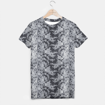 Thumbnail image of Black Floral Lace T-shirt, Live Heroes
