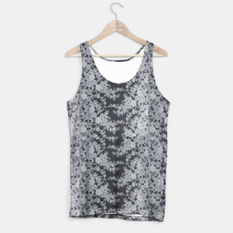 Thumbnail image of Black Floral Lace Tank Top, Live Heroes