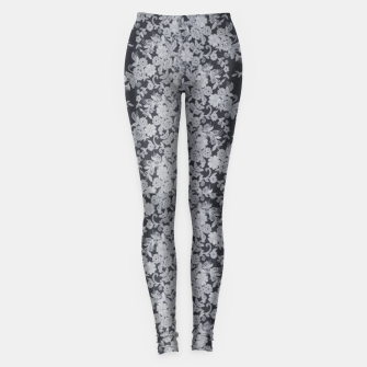 Thumbnail image of Black Floral Lace Leggings, Live Heroes