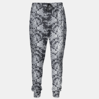 Thumbnail image of Black Floral Lace Sweatpants, Live Heroes