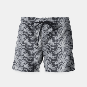 Thumbnail image of Black Floral Lace Swim Shorts, Live Heroes