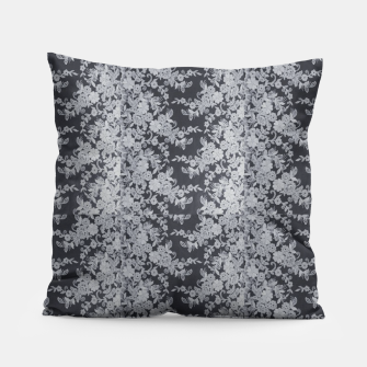 Thumbnail image of Black Floral Lace Pillow, Live Heroes