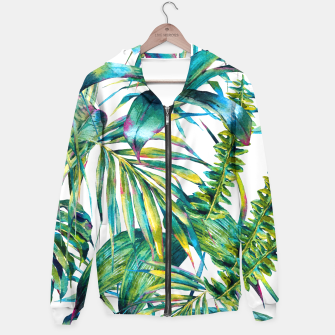 Imagen en miniatura de Nature leaves exotic watercolor I Sudadera con capucha, Live Heroes