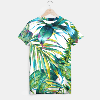 Miniature de image de Nature leaves exotic watercolor I Camiseta, Live Heroes