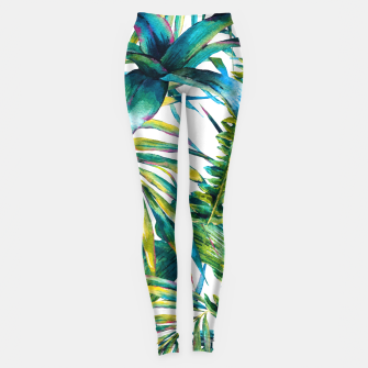 Miniaturka Nature leaves exotic watercolor I Leggings, Live Heroes