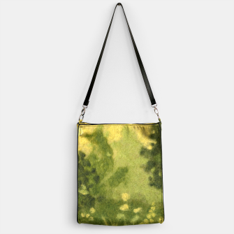 Thumbnail image of Summer lawn, felt painting, green & yellow Handbag, Live Heroes