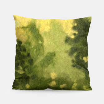 Miniatur Summer lawn, felt painting, green & yellow Pillow, Live Heroes