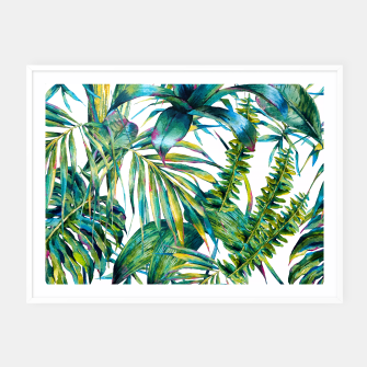Imagen en miniatura de Nature leaves exotic watercolor I Cartel con marco, Live Heroes