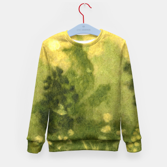 Miniatur Summer lawn, felt painting, green & yellow Kid's Sweater, Live Heroes