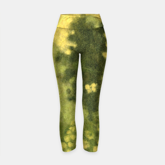 Thumbnail image of Summer lawn, felt painting, green & yellow Yoga Pants, Live Heroes
