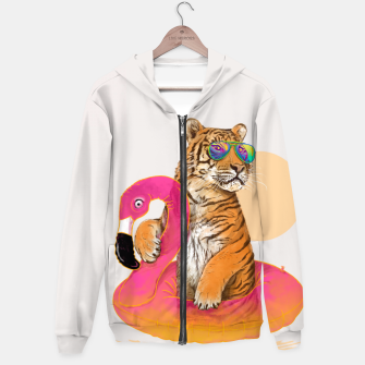 Thumbnail image of Chillin (Flamingo Tiger) Hoodie, Live Heroes