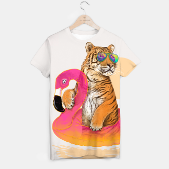 Thumbnail image of Chillin (Flamingo Tiger) T-shirt, Live Heroes