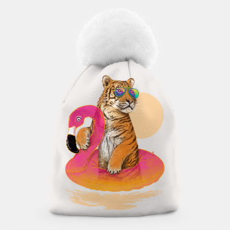Thumbnail image of Chillin (Flamingo Tiger) Beanie, Live Heroes