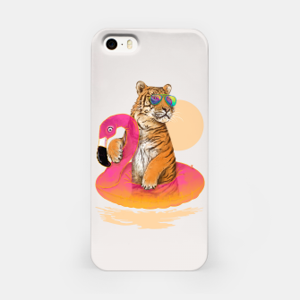 Thumbnail image of Chillin (Flamingo Tiger) iPhone Case, Live Heroes
