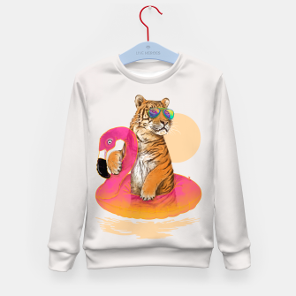 Miniature de image de Chillin (Flamingo Tiger) Kid's Sweater, Live Heroes