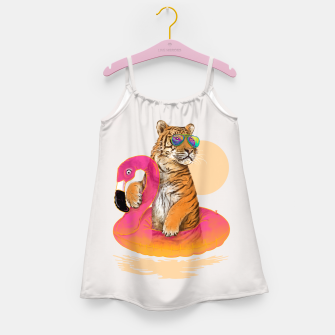 Thumbnail image of Chillin (Flamingo Tiger) Girl's Dress, Live Heroes