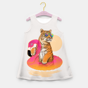 Thumbnail image of Chillin (Flamingo Tiger) Girl's Summer Dress, Live Heroes