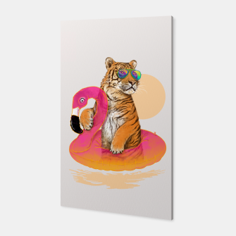 Thumbnail image of Chillin (Flamingo Tiger) Canvas, Live Heroes