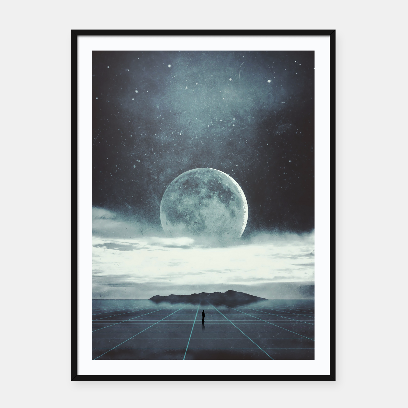 Image of Nowhere Framed poster - Live Heroes