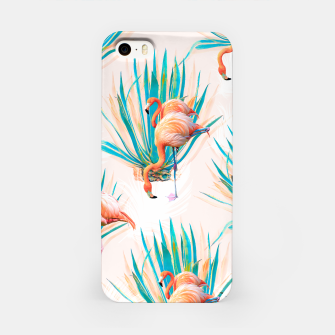 Thumbnail image of Anaglyph Flamingos with cactus Carcasa por Iphone, Live Heroes