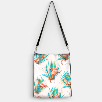 Thumbnail image of Anaglyph Flamingos with cactus Bolso, Live Heroes