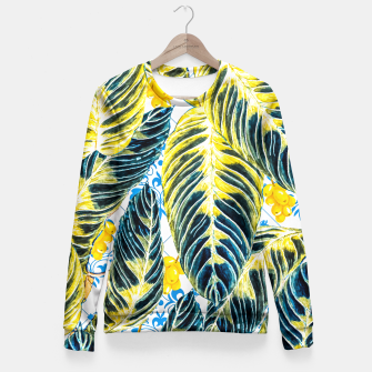Miniatur Tropical leaf on ornamental pattern Sudadera entallada, Live Heroes
