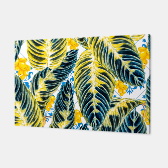 Thumbnail image of Tropical leaf on ornamental pattern Canvas, Live Heroes