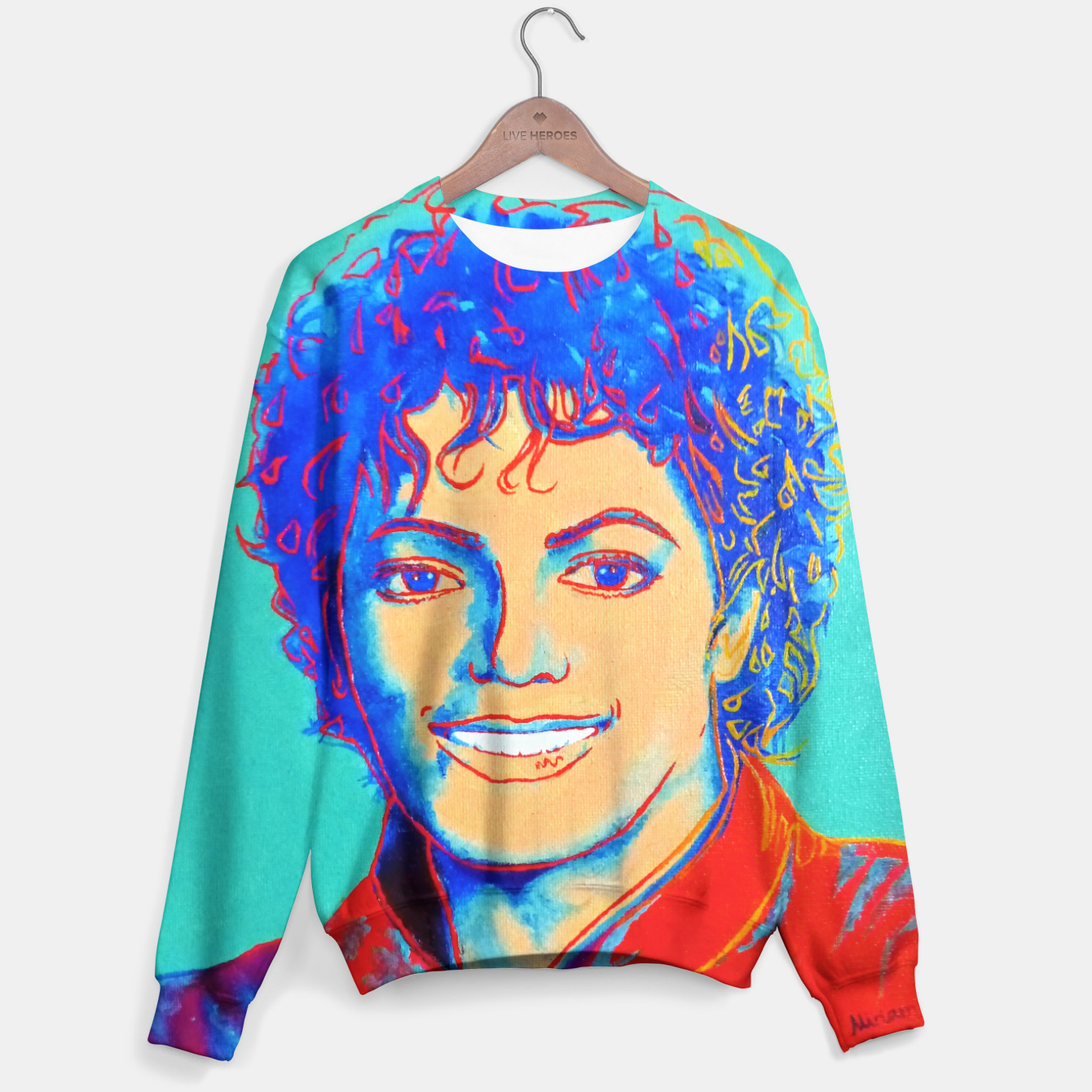 Image Of Michael Jackson Andy Warhol Fanart Sweater Live Heroes