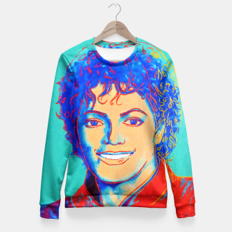 Thumbnail image of Michael Jackson Andy Warhol fanart Fitted Waist Sweater, Live Heroes