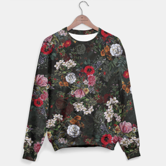 Thumbnail image of Botanical Flowers IV Dark  Sweater, Live Heroes