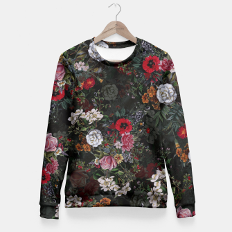 Thumbnail image of Botanical Flowers IV Dark  Fitted Waist Sweater, Live Heroes