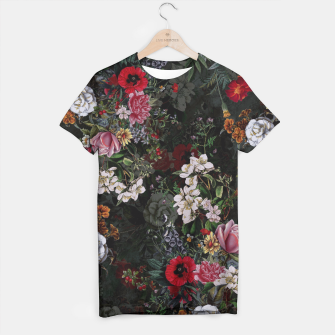 Thumbnail image of Botanical Flowers IV Dark  T-shirt, Live Heroes