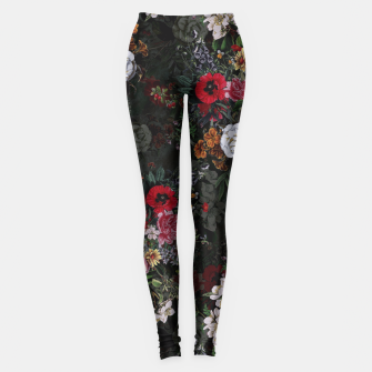 Thumbnail image of Botanical Flowers IV Dark  Leggings, Live Heroes