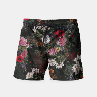 Thumbnail image of Botanical Flowers IV Dark  Swim Shorts, Live Heroes