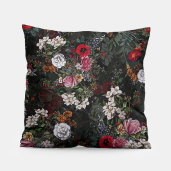 Thumbnail image of Botanical Flowers IV Dark  Pillow, Live Heroes