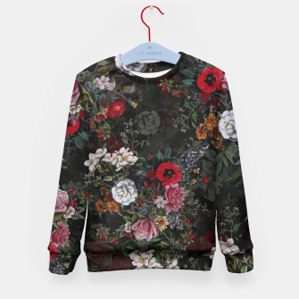 Thumbnail image of Botanical Flowers IV Dark  Kid's Sweater, Live Heroes