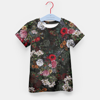 Thumbnail image of Botanical Flowers IV Dark  Kid's T-shirt, Live Heroes