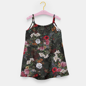 Thumbnail image of Botanical Flowers IV Dark  Girl's Dress, Live Heroes