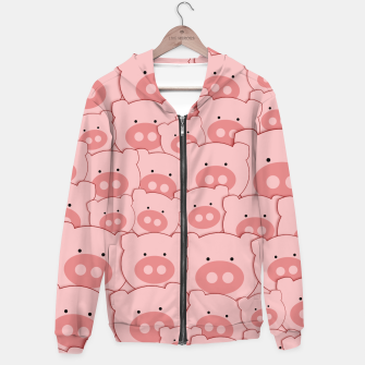 Thumbnail image of Piggy Pigs Pattern Hoodie, Live Heroes