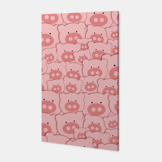 Thumbnail image of Piggy Pigs Pattern Canvas, Live Heroes