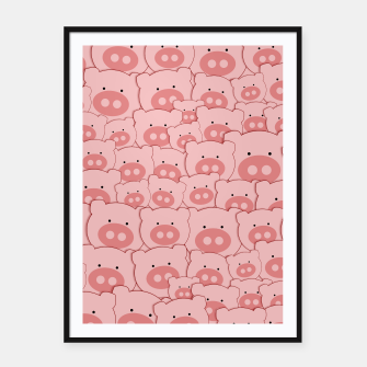 Thumbnail image of Piggy Pigs Pattern Framed poster, Live Heroes