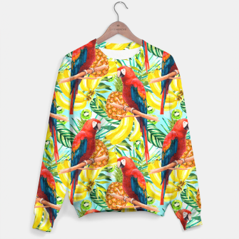 Miniatur Pattern of birds and tropical fruit Sudadera, Live Heroes