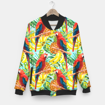 Imagen en miniatura de Pattern of birds and tropical fruit Chaqueta de béisbol, Live Heroes