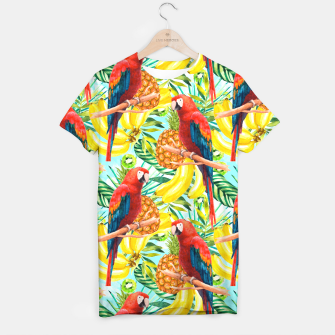Miniature de image de Pattern of birds and tropical fruit Camiseta, Live Heroes