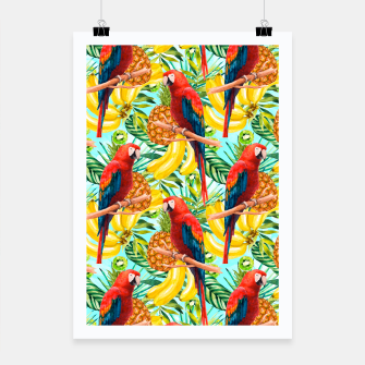 Imagen en miniatura de Pattern of birds and tropical fruit Cartel, Live Heroes