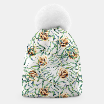 Thumbnail image of Pattern of leaf branches and ocher roses Gorro, Live Heroes
