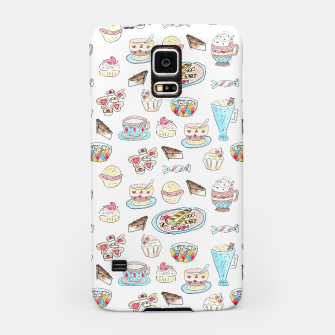 Thumbnail image of Seamless watercolor sketched desserts sweets pattern Samsung Case, Live Heroes