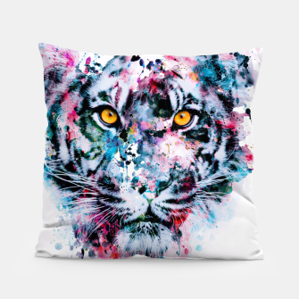 Tiger Blue Pillow thumbnail image